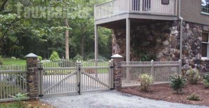 Faux river rock fence posts