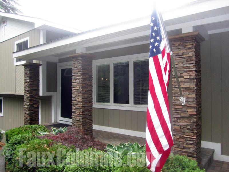 Inspirational Porch Columns Ideas With Faux Materials Barron Designs