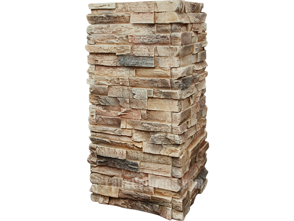 Faux column wraps in Canyon color, great for kitchens.