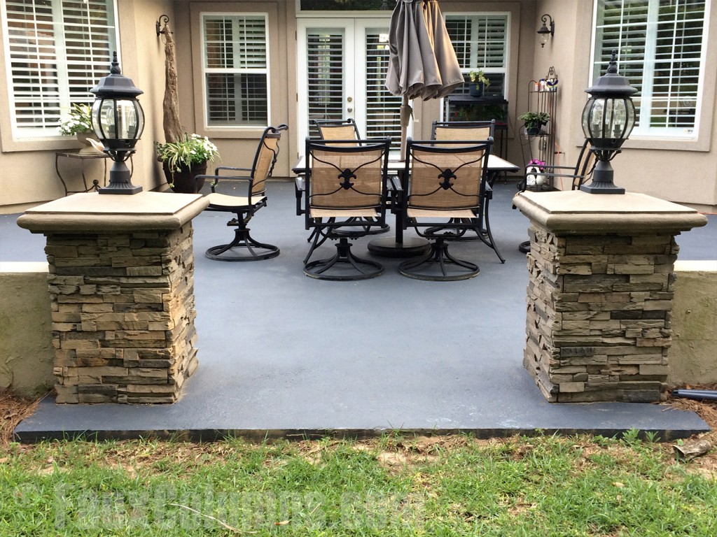 The Quarry Gray color style looks great on patios.
