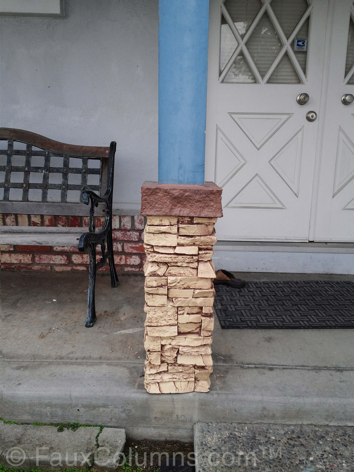 How To Install A Stacked Stone Column Wrap Barron Designs