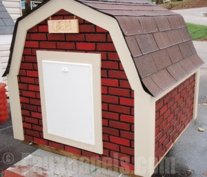 Dog House with Faux Brick Panels