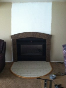 Class A fire rated faux panels for the fireplace