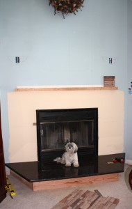 Fireplace before photo
