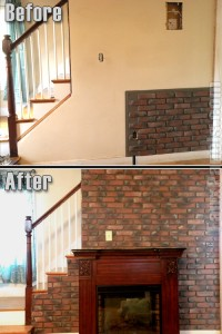Inside or out, Old Chicago Brick panels add character and class as an accent wall or wainscoting.