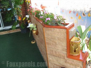 This easy DIY project turned a basic wooden frame into impressive planters that bring a beautiful look to Joe's yard.