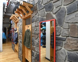 Saving on time, money and maintenance, Burtons chose to go with faux fieldstone panels for their store displays.