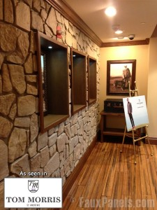 Tom Morris Golf Store renovated with Fieldstone style panels