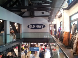 A clean, urban look for Old Navy merchandise