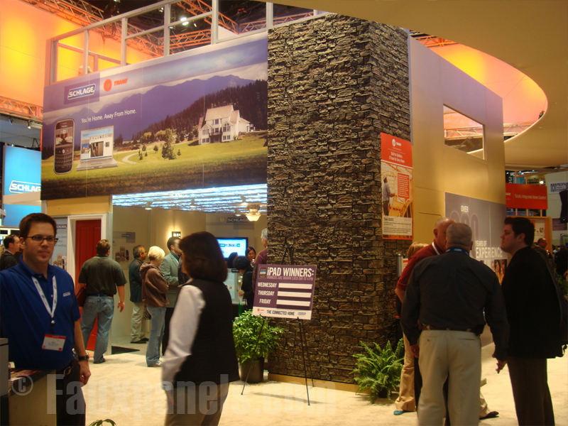 Trade show display column covered in Stonewall panels.