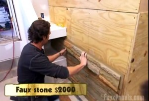Host of Money Hunters installs ledgestone panels in season 2 episode of Money Hunters.