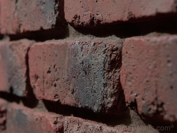 Our faux brick panels are incredibly realistic. Just look at that detail!