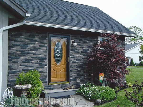 Nailon panels install on a home exterior just as easily as traditional vinyl siding.