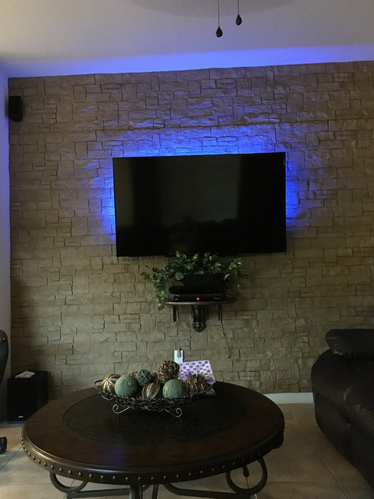 A beautiful TV wall design created with Stonewall panels