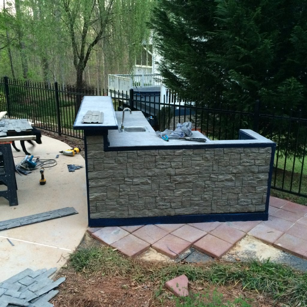 AFTER: Novi panels made the finished product look like a real stone kitchen.