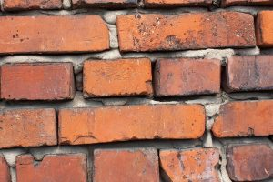 Some brick tile solutions are made from real, reclaimed brick.