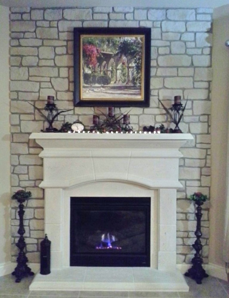 Mike created this surround to accent his fireplace, a subtle but striking look.