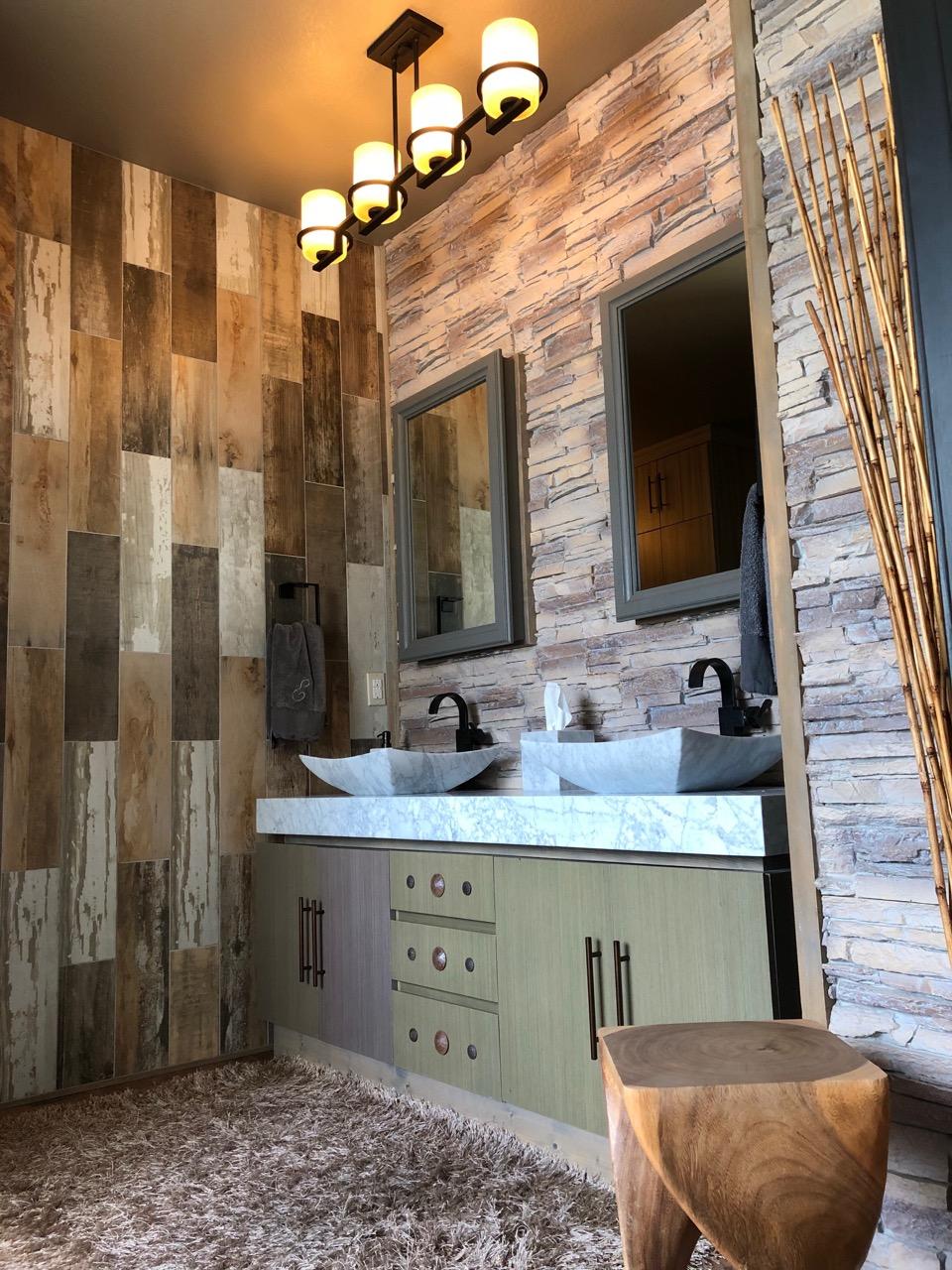 bathroom vanity backsplash total house makeover part 3