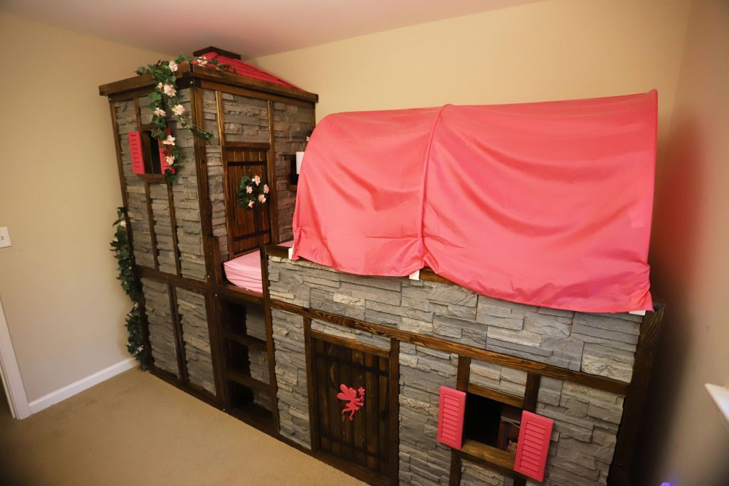 Castle style bed with Wellington Dry Stack panels