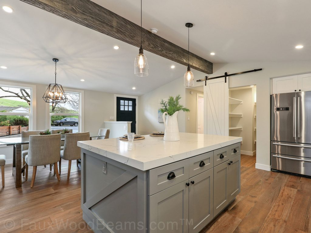 The beams are an amazing way to get the look of reclaimed wood into your home in a way that's affordable, practical, and safe.