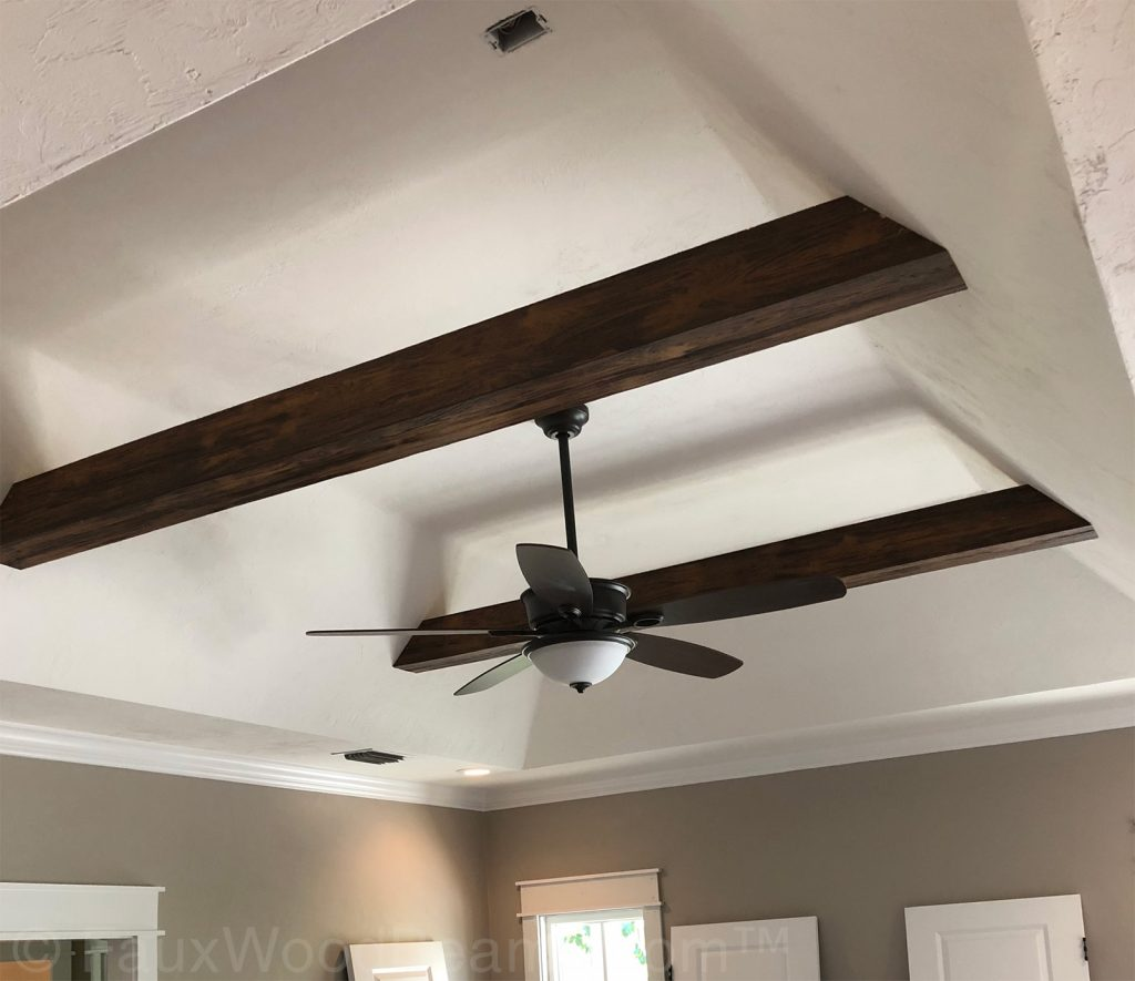 Faux wood beams will help reduce indoor allergens in your home.