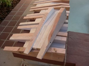Wooden mounting blocks