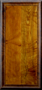 2 Oaks Panel with Trompe L'Oeil Frame
