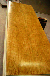 Bookmatched Cherry Cabinet Top