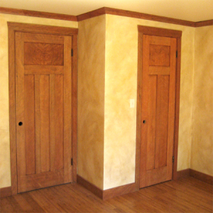 Cherry Grain Doors, Casing, Crown, Base