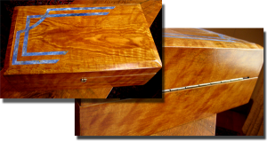 Faux Oak and Lapis Jewelry Box
