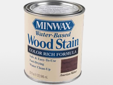 MinWax water-based wood stain