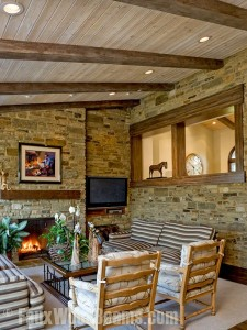 Unfinished faux wood beams can be easily painted or stained to perfectly match the color of any existing wood in your home.