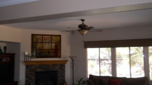 BEFORE: Steven carefully planned where his beams went, to make sure they seamlessly blended with his existing decor.