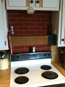 George and Jay created an amazing stove backsplash for their home.