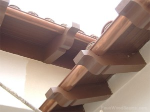 Once installed, its almost impossible to tell that these faux wood rafter tails aren't the real thing.