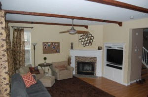 By adding corbels to the ends of ceiling beams, you can create a more traditional look.