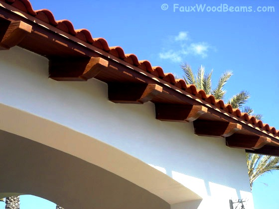 Real wood rafter tails are easy to paint or stain to your preference.