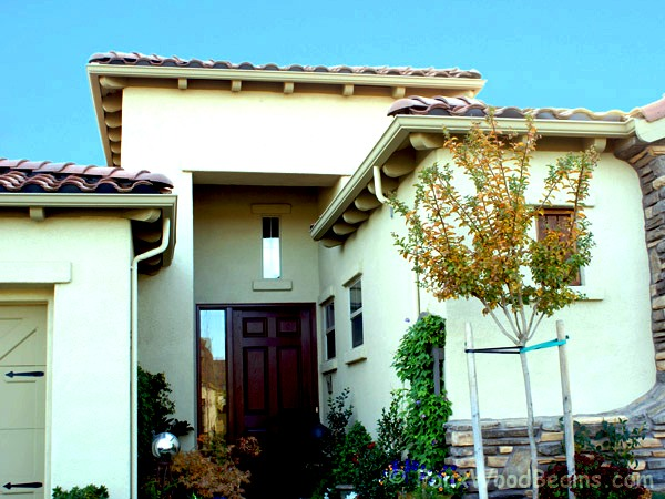 Rafter tail designs add elegance and flair to your home's exterior.