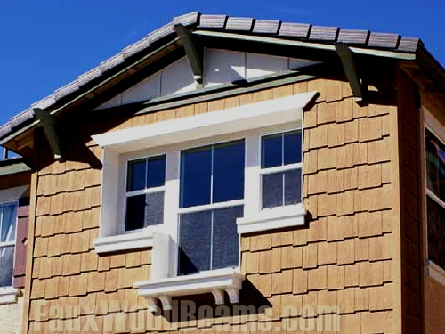 Rafter tail designs are a great way to accent your home's windows.
