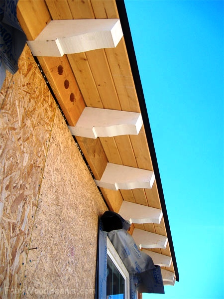 Real wood raftertails enhance your home's roof line.