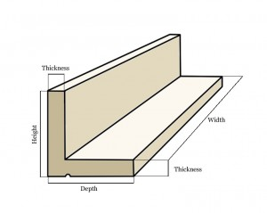 Our beams are supplied in an evenly-matched L-shape. Trim the bottom section to fit your window opening.