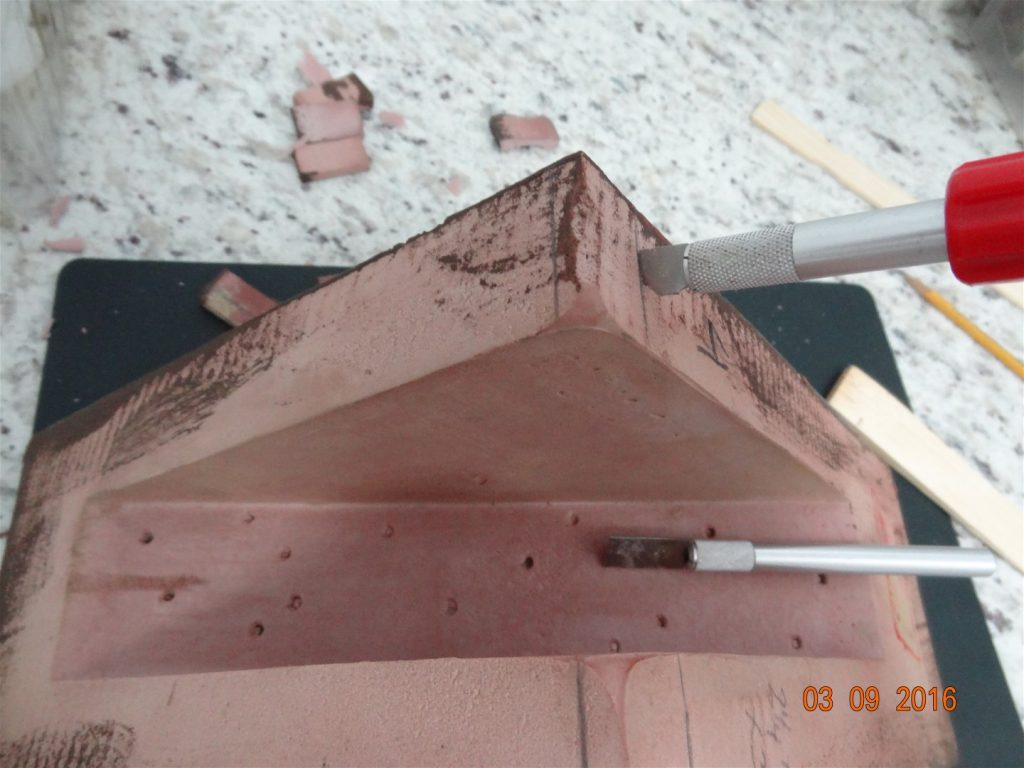 7. Gap eliminated by cutting out channel for soffit ridge.