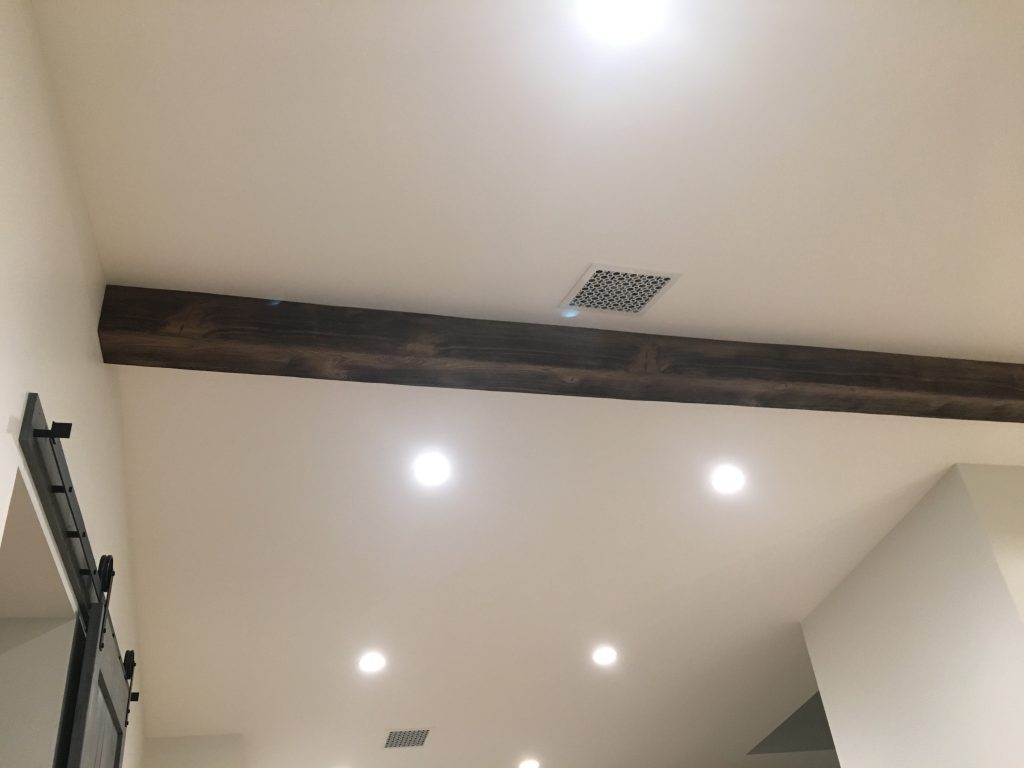 Beachwood beam installed in a kitchen